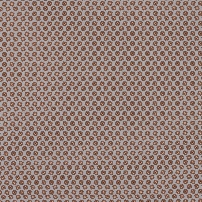 italian gray and brown floral digitally printed stretch polyester 316788 11