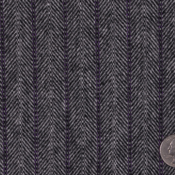 italian gray and purple wool herringbone flannel fw12255 11