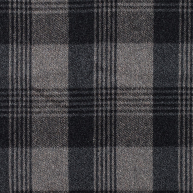 italian gray plaid brushed wool twill 314988 11