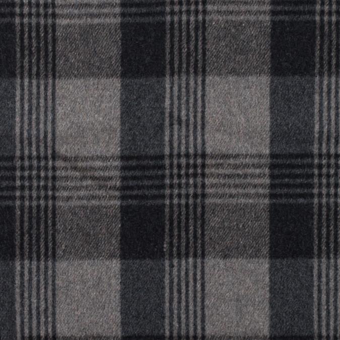 italian gray plaid brushed wool twill 314988 11