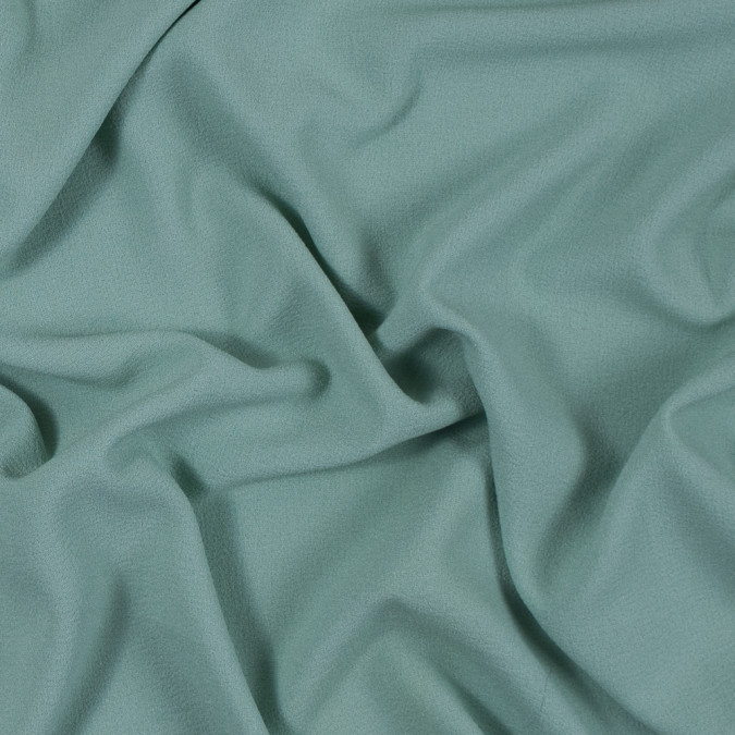 italian grayed jade stretch polyester crepe 312004 11