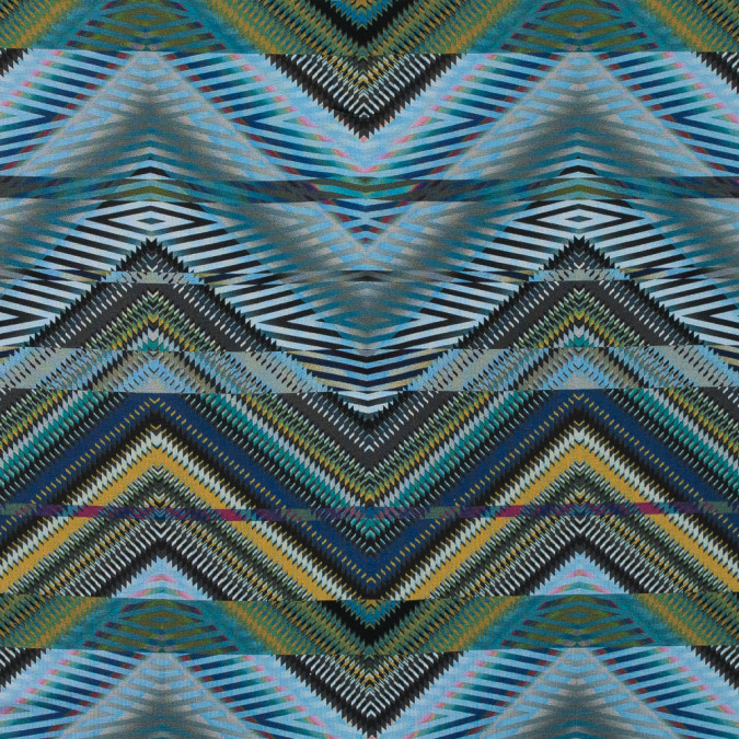 italian green and blue zig zag tribal printed jersey 316639 11