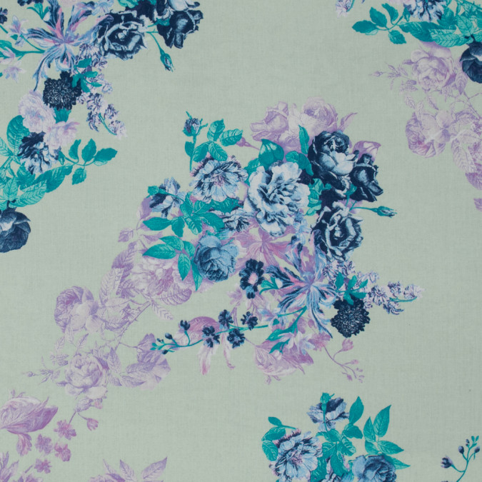 italian green and purple floral cotton batiste 317442 11