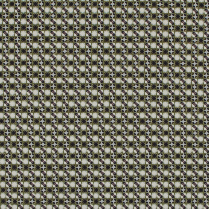 italian green geometric digitally printed stretch polyester 316793 11