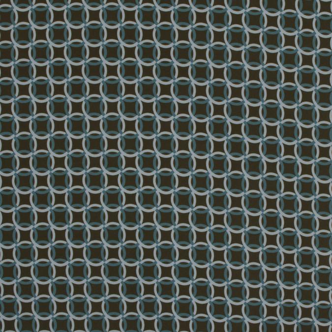 italian green geometric stretch polyester 317463 11