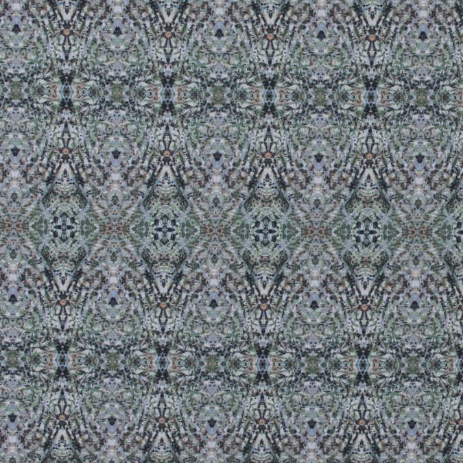 italian green kaleidoscopic digitally printed stretch polyester 316766 11