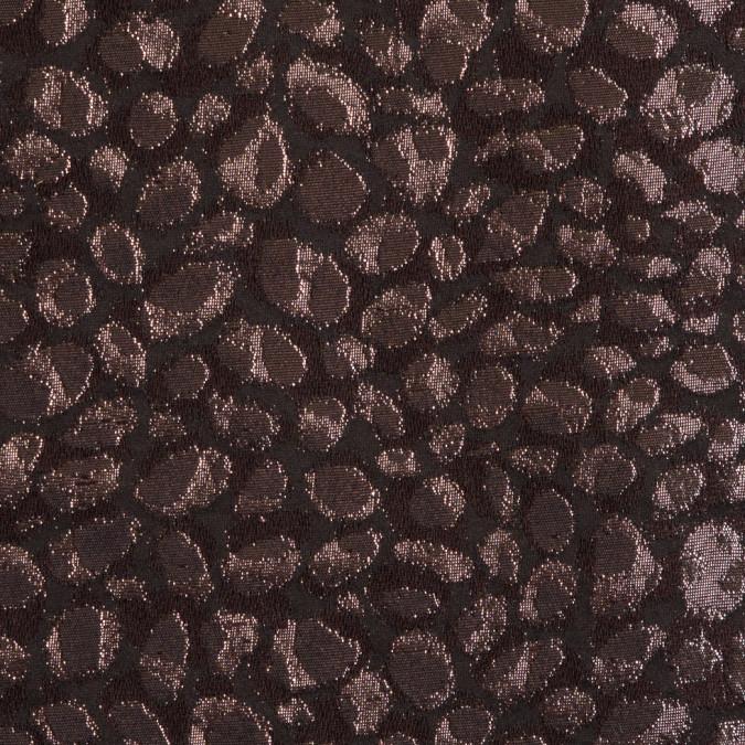 italian gunmetal spotted metallic lame jacquard 309093 11