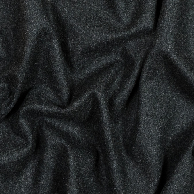 italian heathered charcoal felted virgin wool coating 319000 11