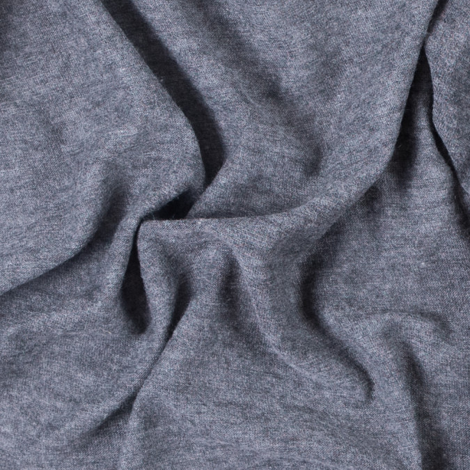 italian heathered gray tissue weight polyester jersey 311596 11