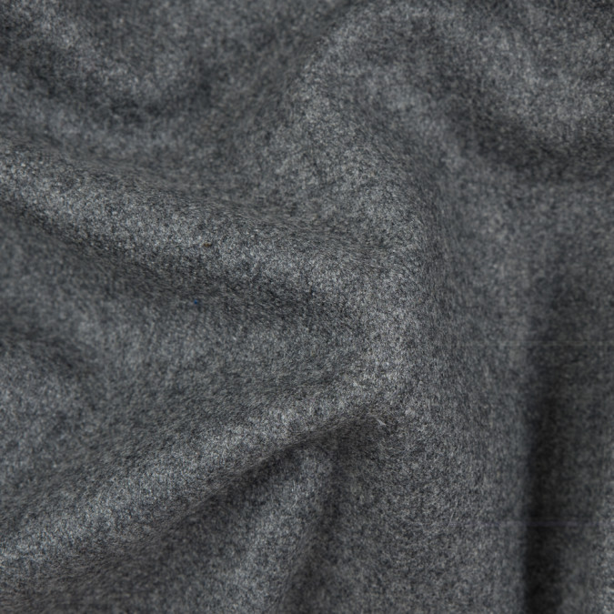 italian heathered gray ultra soft wool suiting 310503 11