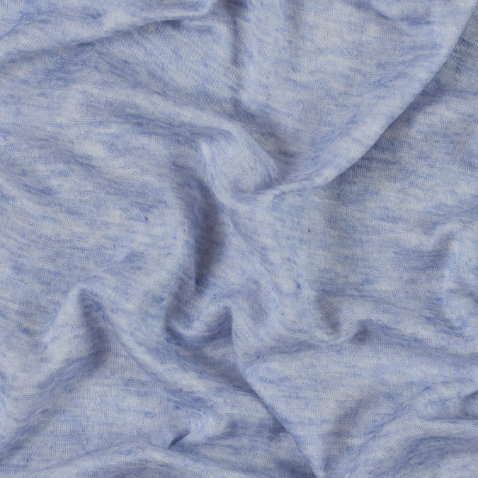 italian heathered periwinkle rayon jersey double cloth 315644 11