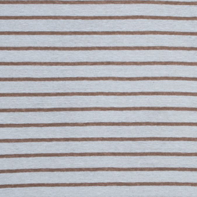 italian light brown and white pencil striped linen knit 316301 11
