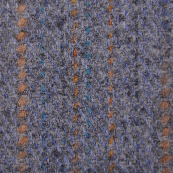italian light slate turquoise clay striped wool twill fw11148 11
