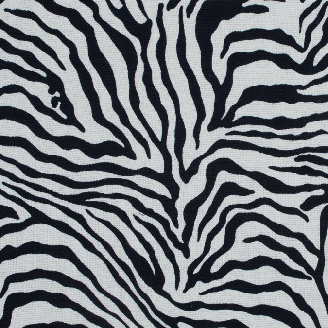 italian midnight blue zebra printed polyester canvas 316756 11