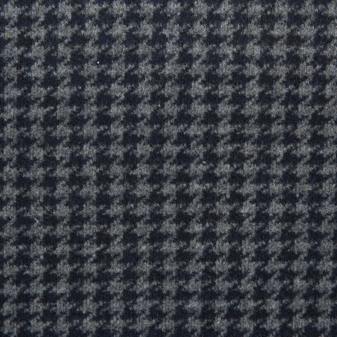 italian midnight navy gray houndstooth wool knit 311646 11