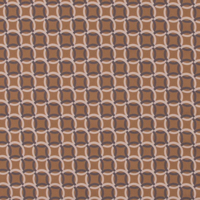 italian mustard and beige geometric stretch polyester 316790 11