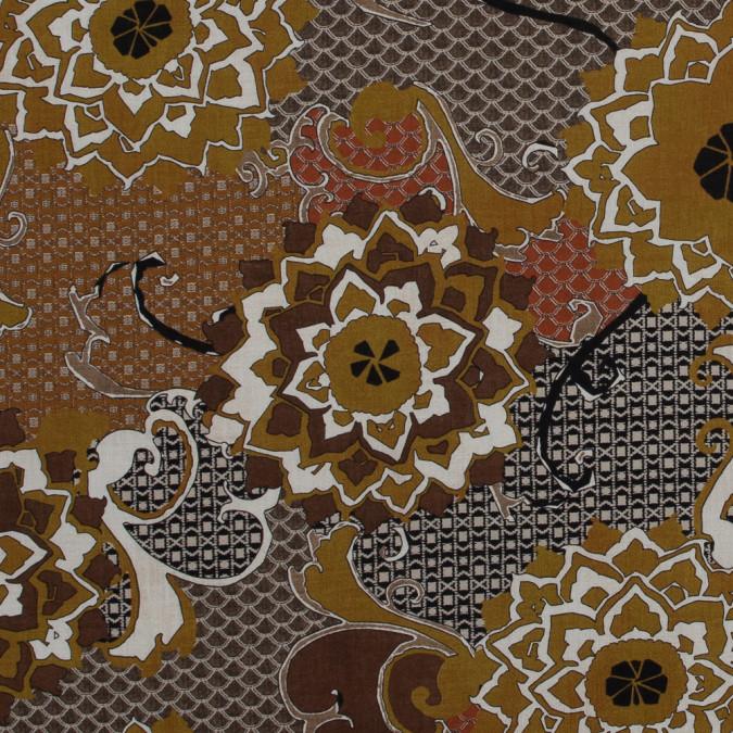 italian mustard floral cotton batiste 317319 11