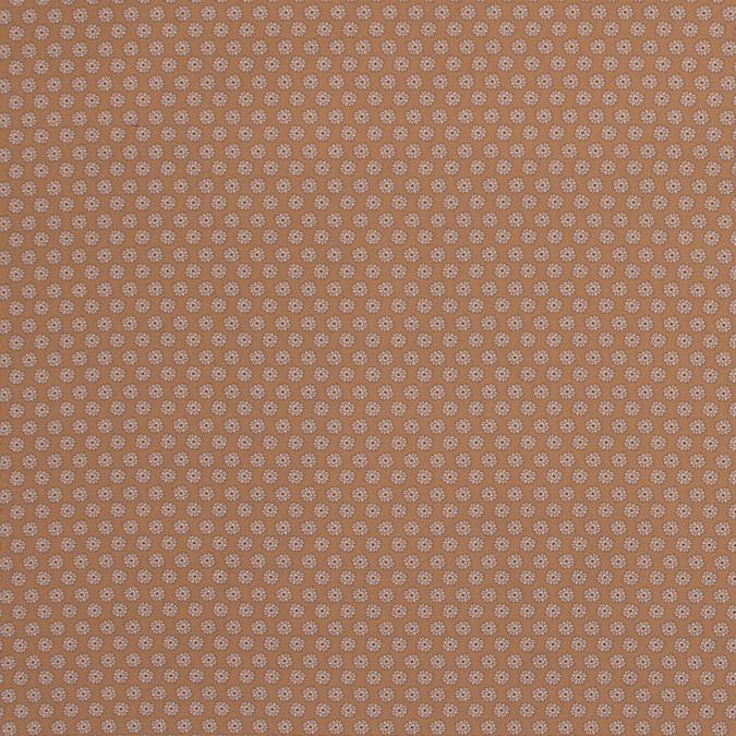italian mustard floral digitally printed stretch polyester 317465 11