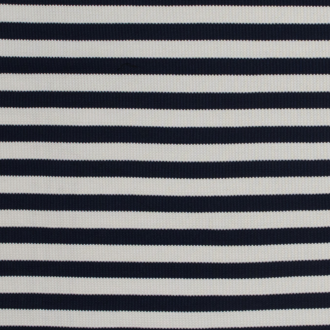 italian navy awning striped cotton waffle knit 316378 11