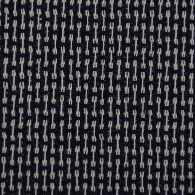 italian navy off white wool woven fw11137 11