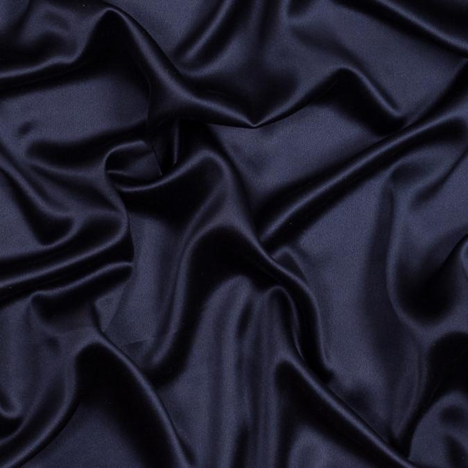 italian navy silk crepe back satin fs23038 11