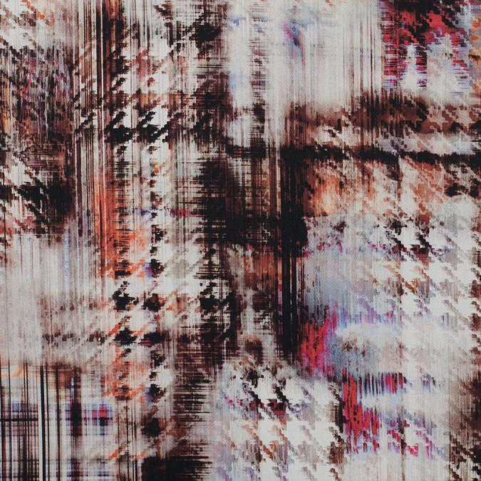 italian orange black and purple abstract stretch cotton twill 316240 11