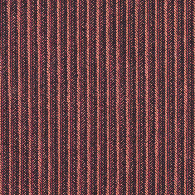 italian orange and black striped wool blend 313029 11