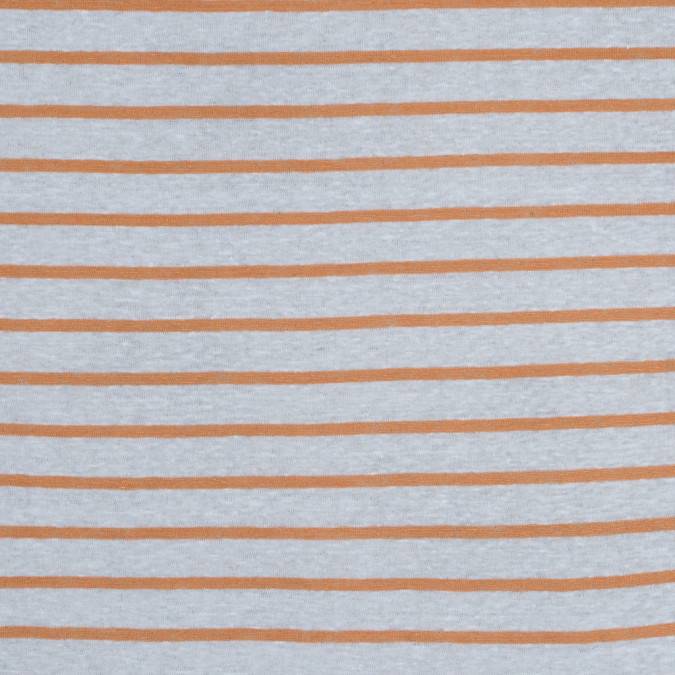 italian orange and white pencil striped linen knit 316302 11
