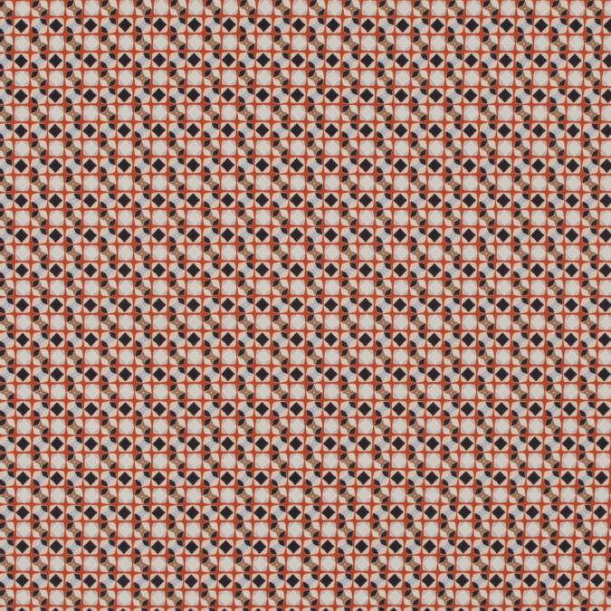 italian orange geometric digitally printed stretch polyester 316777 11