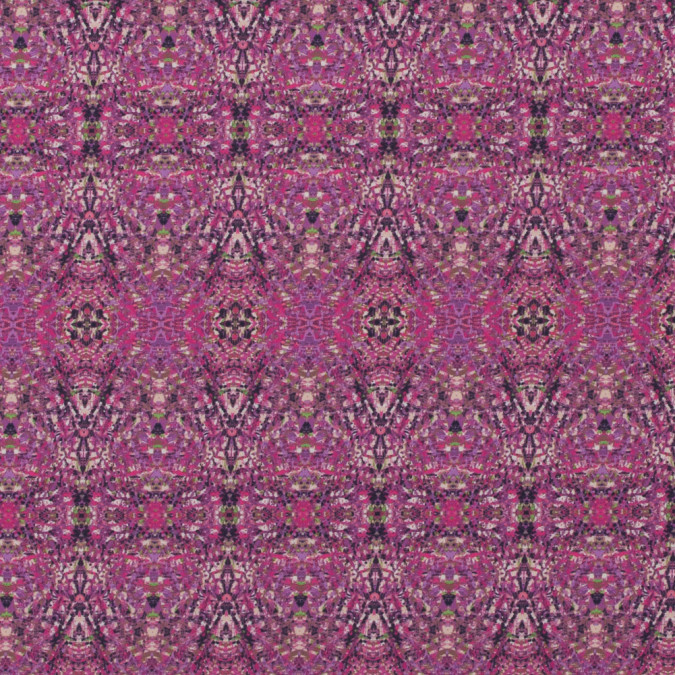 italian pink kaleidoscopic digitally printed stretch polyester 316768 11