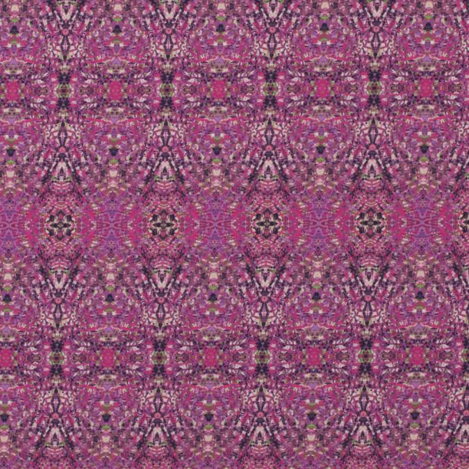 italian pink kaleidoscopic digitally printed stretch polyester 316768 11