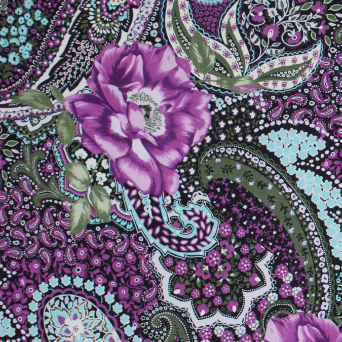 italian purple and green paisley cotton batiste 317424 11