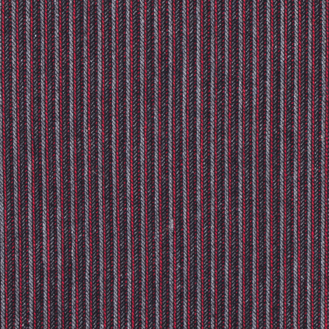 italian red and gray striped wool blend 313045 11
