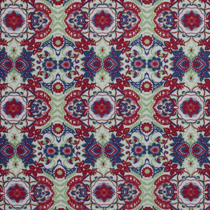 italian red and green floral cotton batiste 317365 11