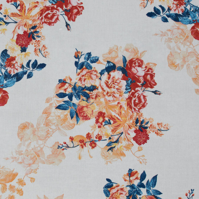 italian red and navy peony floral cotton batiste 317420 11