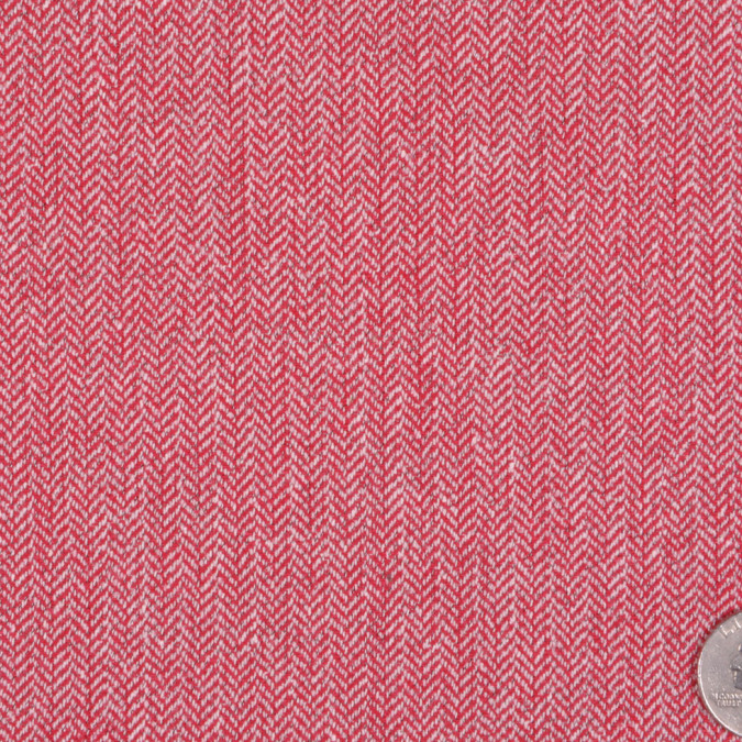 italian red off white herringbone wool suiting fw11785 11