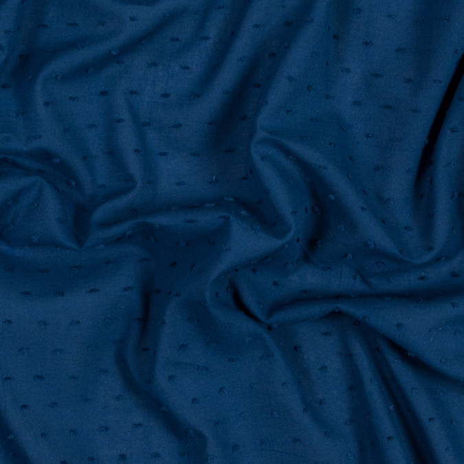 italian royal blue cotton swiss dot 316337 11