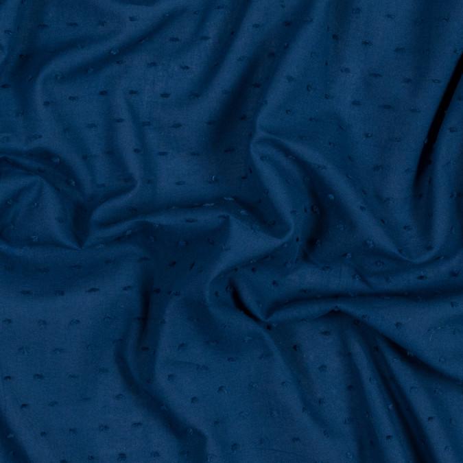 italian royal blue cotton swiss dot 316337 11