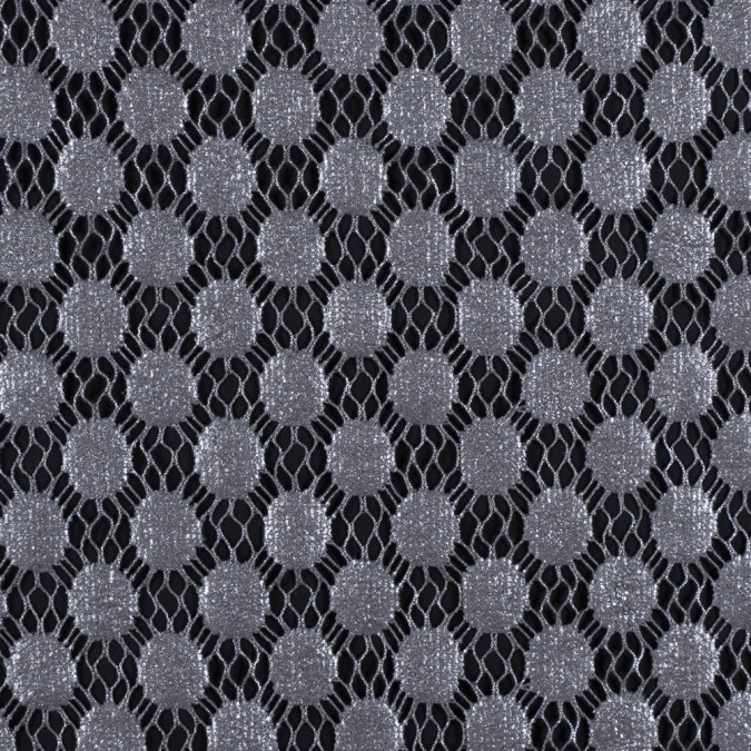 italian silver dotted netting with metallic laminate 312075 11