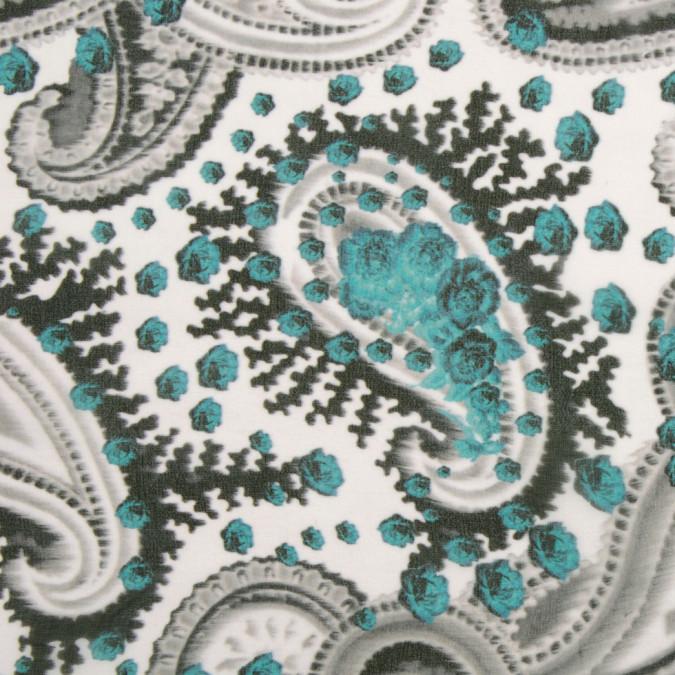 italian soft gray and turquoise silk chiffon fs19497 11
