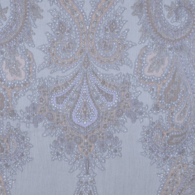 italian soft gray paisley silk chiffon fs12493 11
