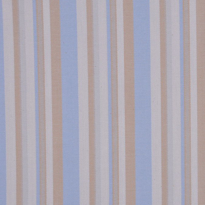 italian tan blue barcode striped cotton dobby suiting fc13005 11