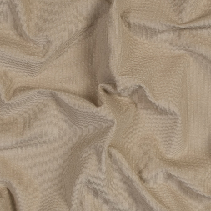 italian tan cotton seersucker corduroy with give 316380 11