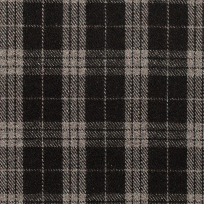 italian turkish coffee tartan plaid blended wool fleece coating 312258 11