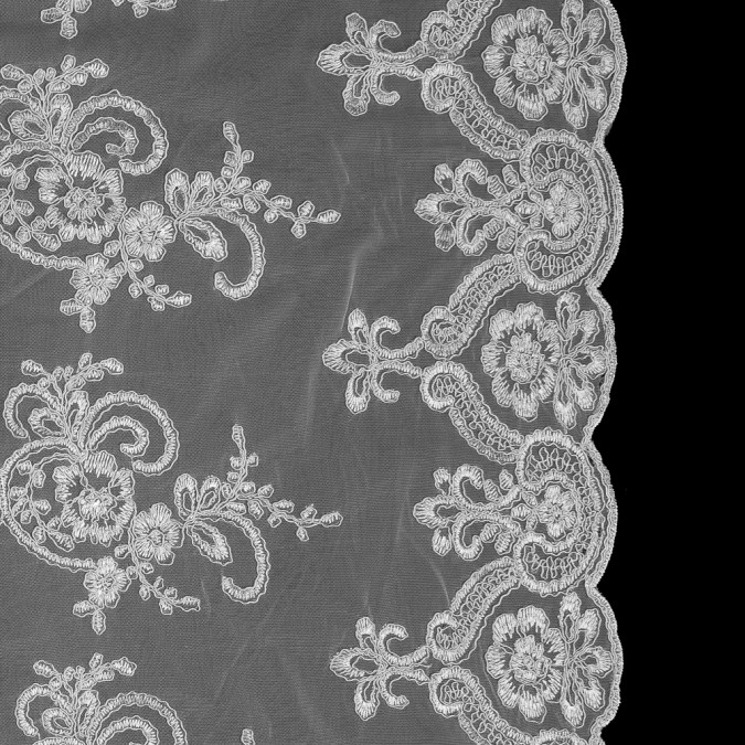 italian white floral re embroidered lace 316325 11