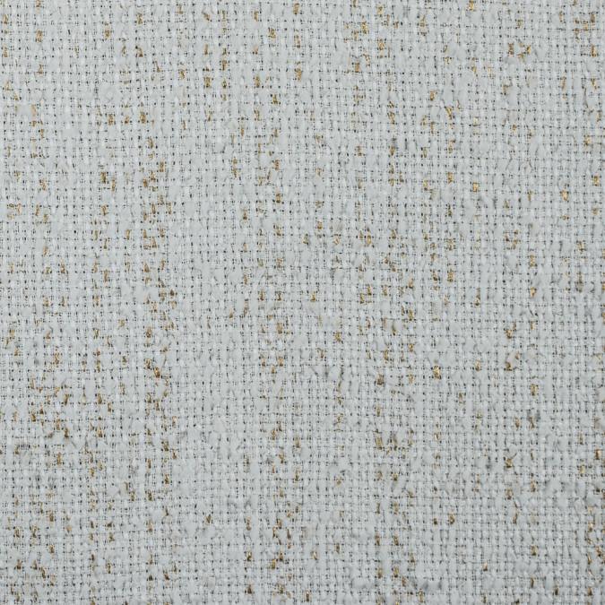 italian white metallic gold cotton polyeseter tweed 311570 11