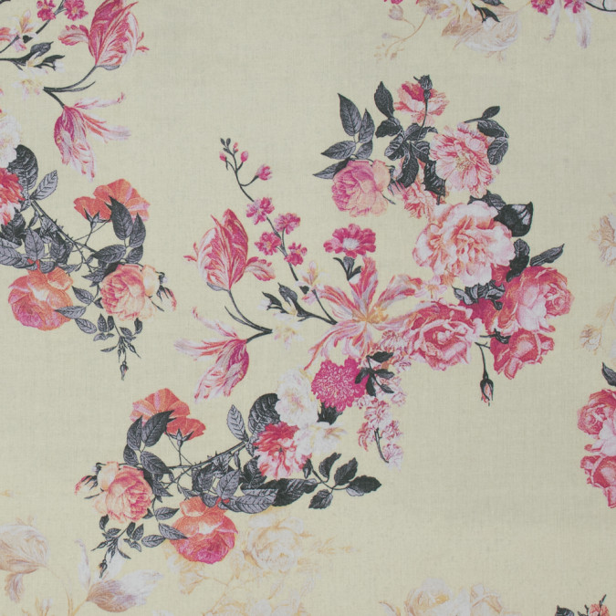 italian yellow and pink floral cotton batiste 317443 11