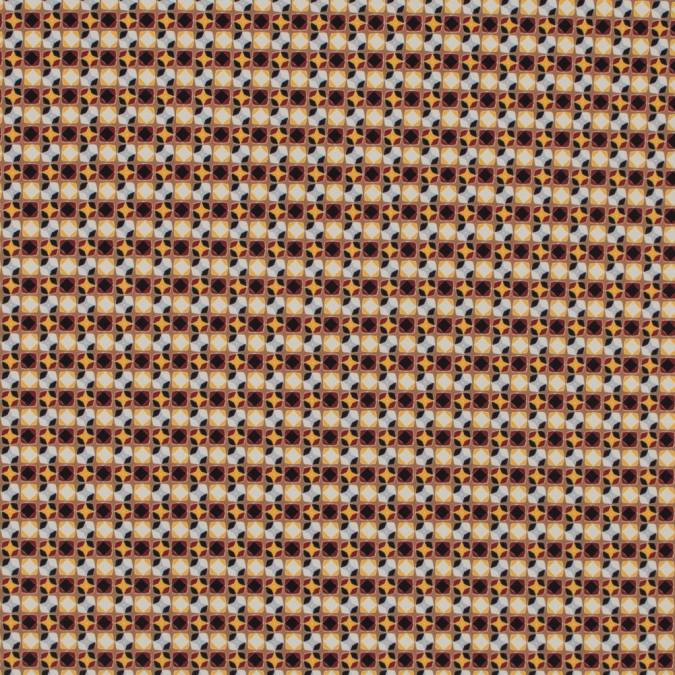 italian yellow geometric digitally printed stretch polyester 316776 11