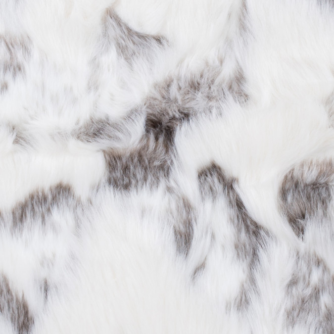 ivory and pewter faux artic fox fur 312829 11