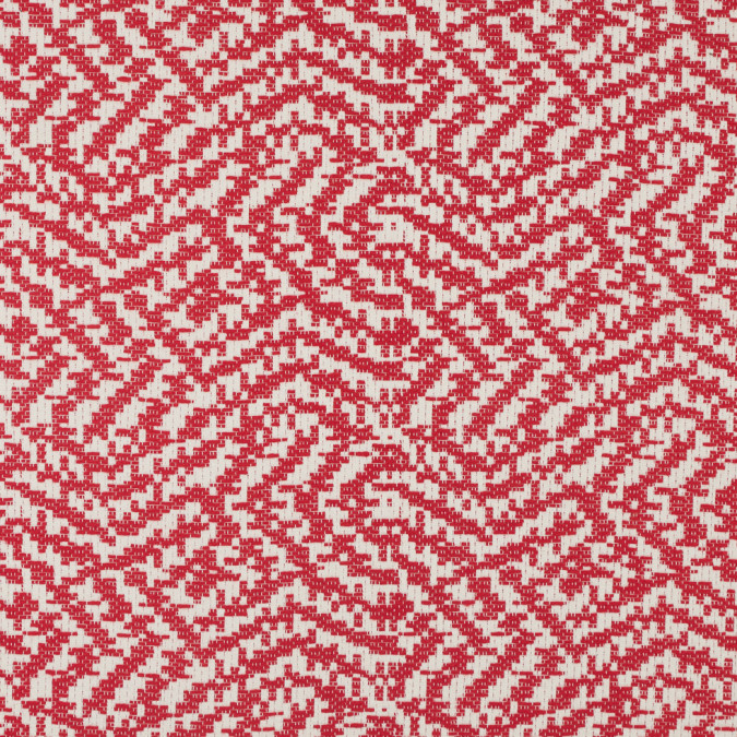 ivory fiery red abstract cotton brocade 311453 11
